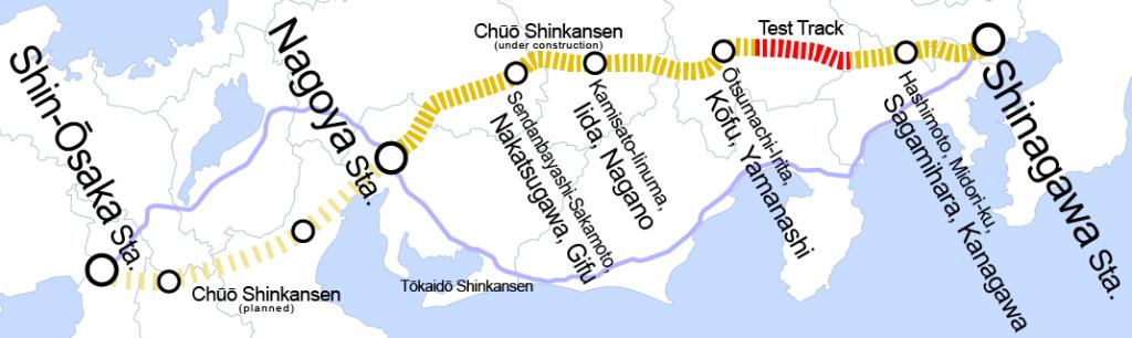 Chūō_Shinkansen_map